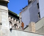 naked man on the roof in the Flatiron District (Anthony Gormley sculpture)