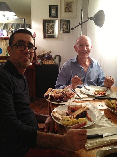 12-25 Christmas dinner with Alvaro and Stephen -- ambitious and delicious (Jamie Oliver recipe)