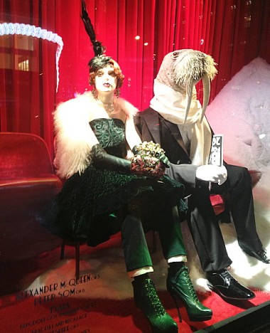 12-9 Bergdorf on 57th Street -- stilettos and tusks