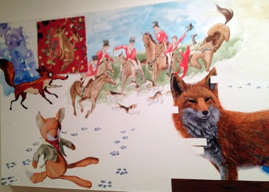 "Then Saturday night we did some gallery-hopping, beginning at Coates Wyllie on W. 29th Street, where the group show CHARACTER SATURATION included Rupert Nesbitt's ""Elusive Fox"""