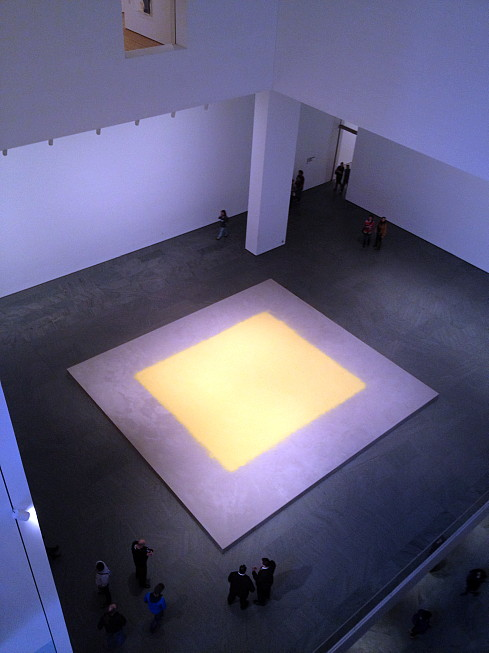 currently in the Atrium at the Museum of Modern Art, what looks like a giant Rothko canvas...