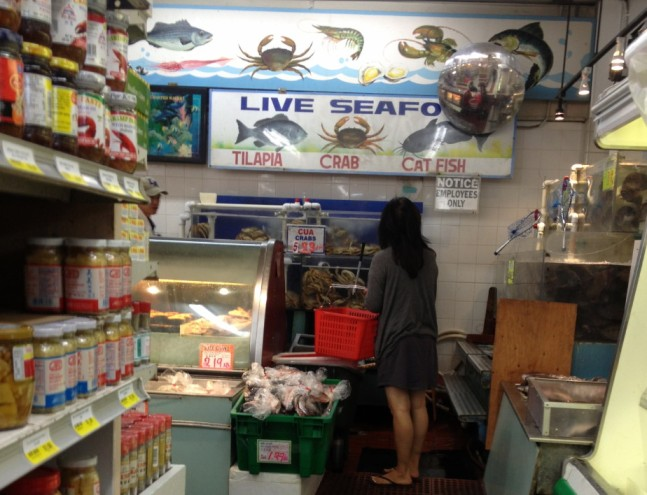 Lots of things you see in a Chinatown supermarket you don't see at Gristede's
