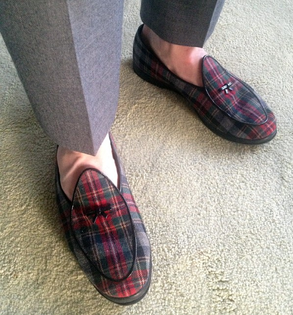 Jonathan's flannel loafers