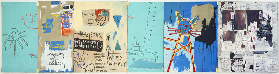 basquiat frogmen 6-panel 1983