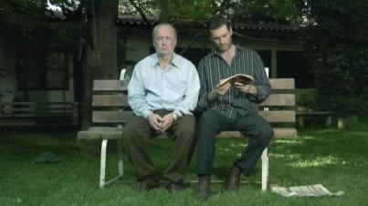 two men on bench