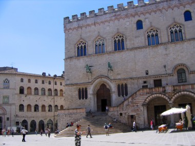 Perugia is an ancient hill town, the largest in Umbria.