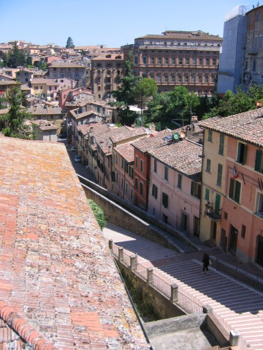 He walked us through the scenic route, pointing out the ancient Roman viaduct that still runs through the university district.