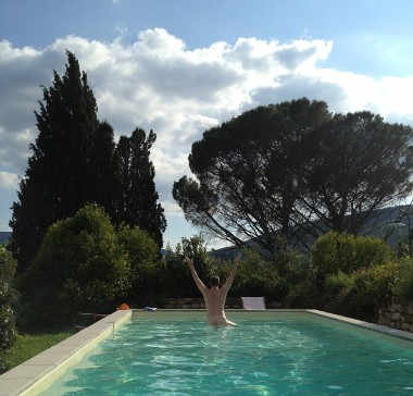 some afternoons demanded a dip in the pool