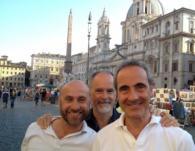 After the week in Tuscany, I spent a day and a night in Rome, where I met up with Michael Mele, his husband Andy, and his old friend Antonio in Piazza Navona.