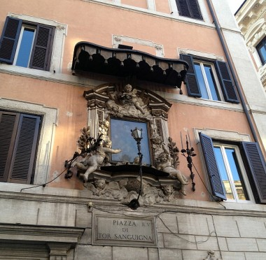Just walking around the neighborhood with Antonio is a treat -- he pointed out that in the Baroque era, street lights couldn't just be lamps -- they had to have painted portraits and putti and wrought-iron embellishments