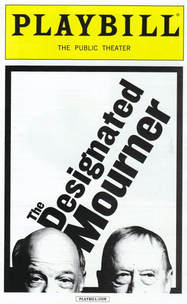designated mourner playbill