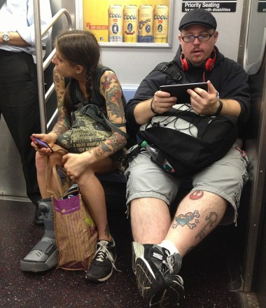 "subway stealth shot (NB: these two were not ""together"")"