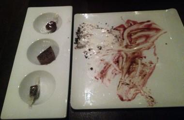 torta caprese, after