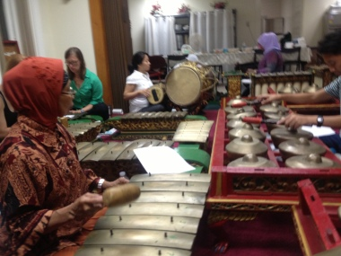 Wednesday night gamelan rehearsal