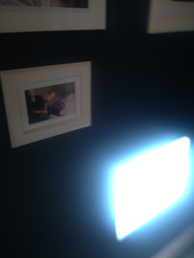 speaking of art galleries, a temporary James Turrell suddenly showed up in my hallway/portrait gallery