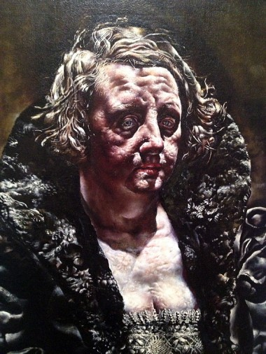 """Some discoveries -- like this """"Woman"""" by a painter unknown to me, Ivan le Lorraine Albright (above), and the slideshow by contemporary British artist Phil Collins (NOT the guy from Genesis)"""