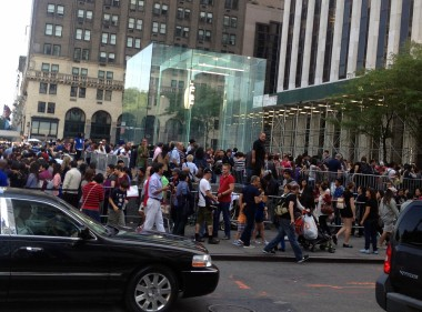 The Apple Store is a madhouse the first day new products go on sale.