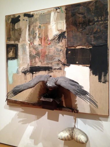 "I spun through MOMA's ""American Modern: Hopper to O'Keefe"" show, with easy reminders: I love Robert Rauschenberg (""Canyon,"" above), I don't love Jasper Johns."