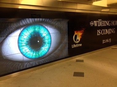 Andy pointed out that the giant eye on the billboard in the walkway at Columbus Circle follows you as you walk