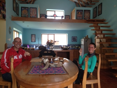 On my way to Machu Picchu, I visited my friend Javier, a former New Yorker who now lives in Pisac, in the Sacred Valley between MP and Cuzco -- his friend Katya was currently sharing the house.