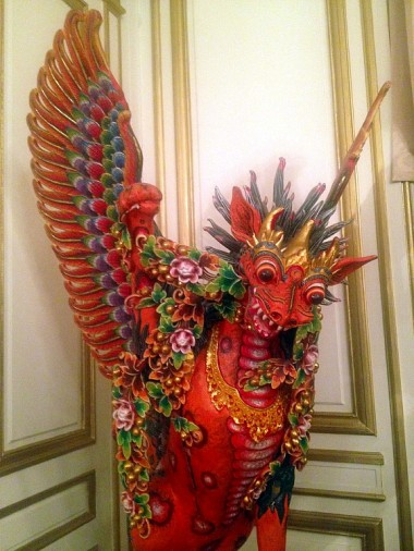 welcoming deity at the Indonesian Consulate