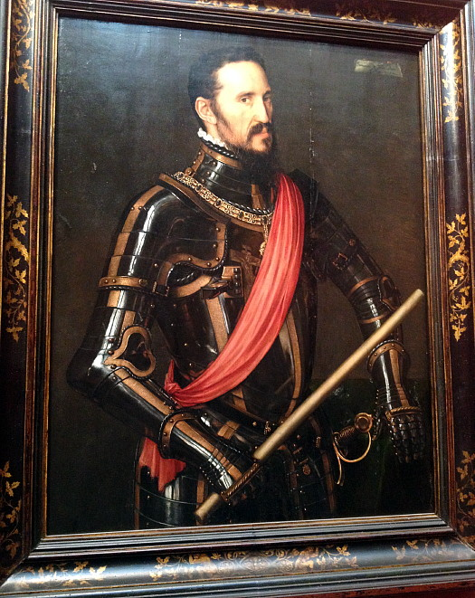 There's also Antonis Mor's portrait of the Duke of Alba, which explains why the Dutchess was so distraught after his death.
