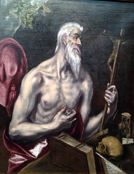 The museum resembles the Frick, in that it houses a private collection amassed by a wealthy individual with particular, discerning taste. It includes some major paintings by major artists, such as this portrait of St. Jerome by El Greco.
