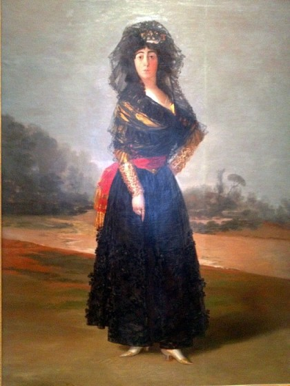 Goya's famous portrait of the widow and legendary beauty Duchess of Alba is a centerpiece of the collection.