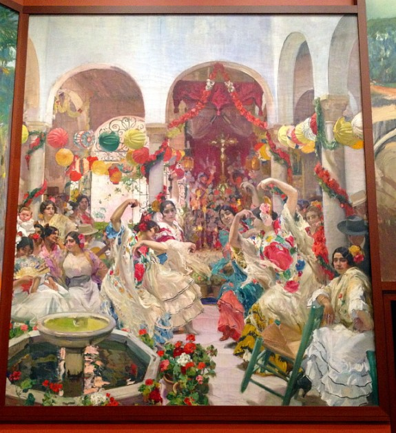 These paintings are extraodinary. My favorite was this one of dancers in Seville.