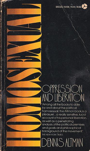 altman homosexual paperback