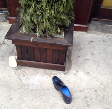 sad shoe on Sixth Avenue