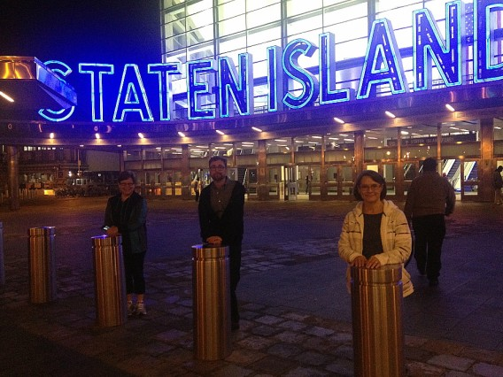 My three sisters came in for the weekend to help me celebrate my birthday. Two of them had never been to NYC before, so Andy and I took them on the Staten Island Ferry first thing.