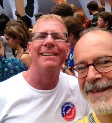 Dave met me and we spent three hours marching and mingling and contemplating how different our world would be if just ONE Supreme Court Justice had voted the other (i.e., the right) way in Bush v. Gore...