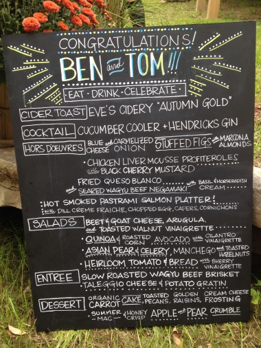 the menu (delicious)