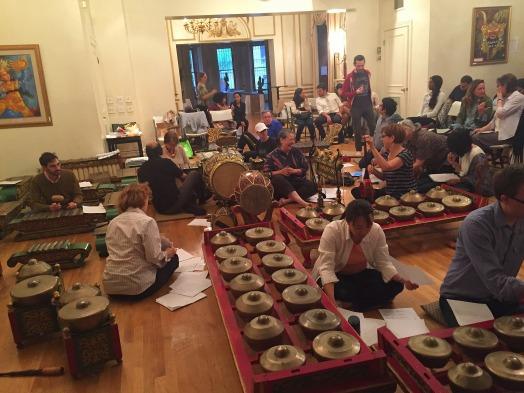 Gamelan Kusuma Laras in rehearsal