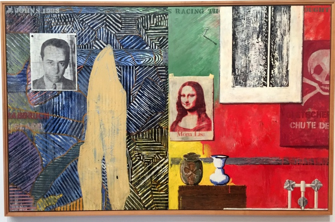 "I'm mostly not a fan of Jasper Johns' banal Americana but this canvas called ""Racing Thoughts"" captivated me"