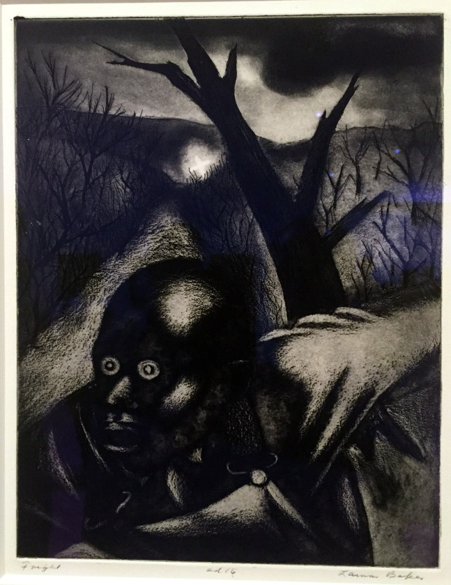 "Lamar Baker's 1936-37 etching and aquatint ""Fright"""