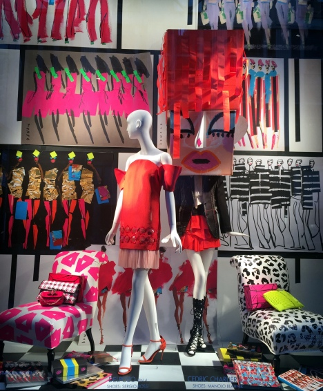 Bergdorf windows featuring designs by Donald Robertson