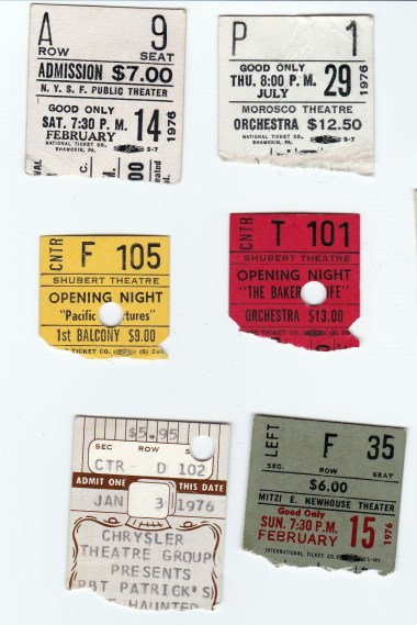 7-28 theater tix stubs