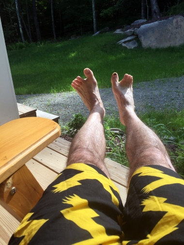 ah, relaxing on the sunny porch in Adirondack chairs