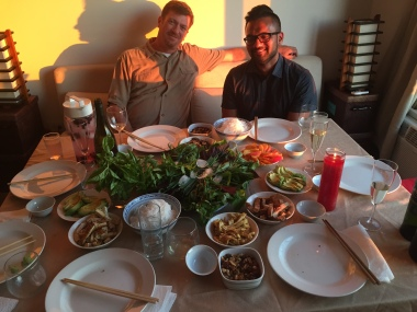 delicious Vietnamese feast with old friends (Hung and Leng) and new (Kip and Anu, above)