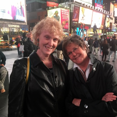10-20 old friends in times square