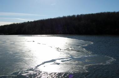 2-22 half-frozen sunny lake